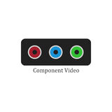 Component video illustration Stock Photos