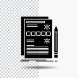 Componente, dados, projeto, hardware, ícone do Glyph do sistema no fundo transparente ?cone preto ilustração do vetor