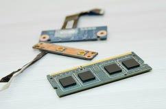 Componente de ordenadores del microprocesador Primer imágenes de archivo libres de regalías