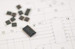 Componente del IC SMD Imagen de archivo libre de regalías