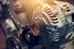 Componente del motore variopinta dell'automobile Immagini Stock Libere da Diritti