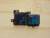 Componente di SIM Card immagine stock libera da diritti