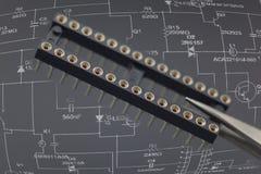 Componente electrónico Foto de archivo libre de regalías