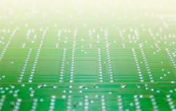 Componente electrónico con cierre de la placa de circuito para arriba Fotografía de archivo