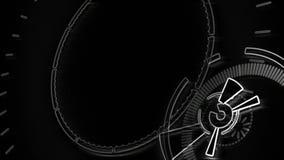 Componente video esboçado do fundo Animação redonda abstrata ilustração royalty free