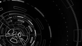 Componente video esboçado do fundo Animação redonda abstrata ilustração do vetor