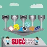 Componenten aan succesvolle digitale marketing, malplaatje Royalty-vrije Stock Foto's