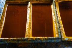 Componenten gesneden kaarsen Stock Foto