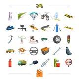 Componenten, industrie, handel en ander Webpictogram in beeldverhaalstijl stock illustratie