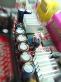 Componenten op motherboard Stock Foto's