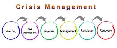 Componenten van Crisisbeheer vector illustratie