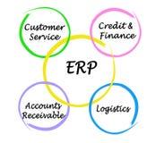 Componenten van ERP royalty-vrije illustratie