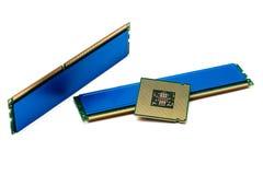 Componenten voor computer over wit Royalty-vrije Stock Foto's