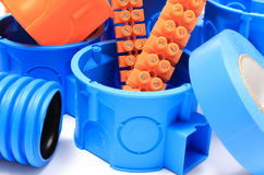 Componentes bondes para o uso nas instalações elétricas Fotos de Stock Royalty Free