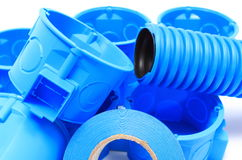 Componentes bondes para o uso nas instalações elétricas Imagem de Stock Royalty Free