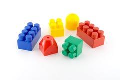 Componentes da cor do meccano da criança Fotos de Stock Royalty Free
