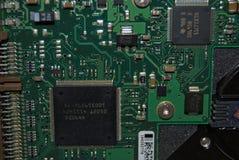 COMPONENTES DA ELETRÔNICA DE UM COMPUTADOR PESSOAL foto de stock