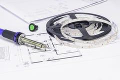 Componentes da eletricidade, diodo emissor de luz fotos de stock royalty free