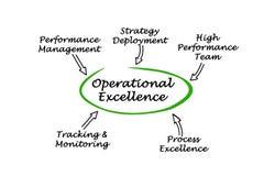 Componentes da excelência operacional ilustração do vetor