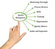 Componentes da gestão de qualidade foto de stock royalty free