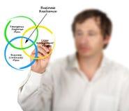 Componentes da resiliência do negócio foto de stock