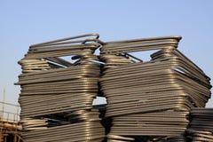 Componentes de acero oxidados Fotografía de archivo