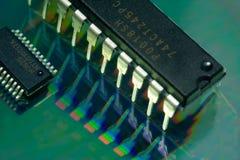 Componentes de circuito Imágenes de archivo libres de regalías