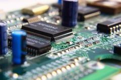 Componentes de circuito impresso. Imagens de Stock