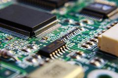Componentes de circuito impresso. fotografia de stock royalty free