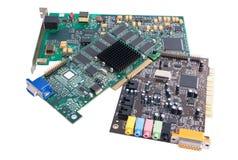 Componentes de ferragem do computador fotos de stock