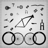 Componentes de la bicicleta Imagen de archivo