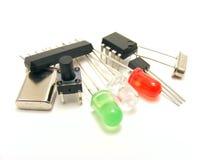 Componentes de la electrónica Fotos de archivo