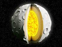 Componentes de la luna. Imágenes de archivo libres de regalías