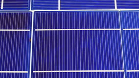 Componentes de los elementos de la célula del panel solar, fondo de la opinión del detalle metrajes