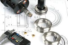 Componentes de medição do metal Imagem de Stock Royalty Free