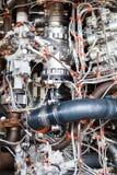 Componentes de motor do jato Imagem de Stock Royalty Free