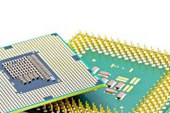 Componentes de SMD na parte inferior dos processadores Fotografia de Stock Royalty Free