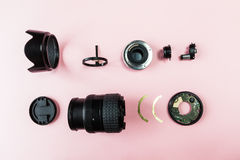 Componentes de una lente Fotografía de archivo libre de regalías