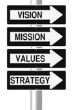 Componentes del planeamiento estratégico Imagen de archivo libre de regalías