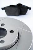 Componentes del sistema de frenos del coche Imagen de archivo