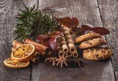 Componentes do alimento do Natal fotografia de stock royalty free