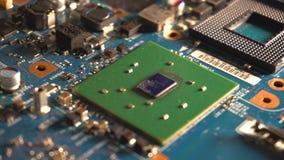 Componentes do cartão-matriz do computador Tiro da zorra video estoque
