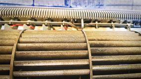 Componentes do condicionador de ar durante o serviço de manutenção imagem de stock royalty free