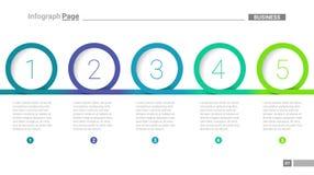 Componentes do laço de Infograph usados para negócios ilustração royalty free