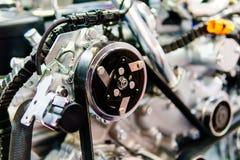 Componentes do motor do motor do caminhão no serviço do carro imagens de stock royalty free