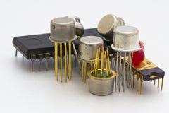 Componentes do semicondutor Fotos de Stock
