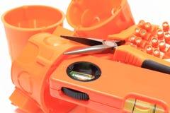 Componentes eléctricos para el uso en instalaciones eléctricas Fotografía de archivo libre de regalías