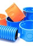 Componentes eléctricos para el uso en instalaciones eléctricas Foto de archivo