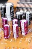 Componentes electrónicos. Imagen de archivo libre de regalías