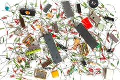Componentes electrónicos fotos de archivo libres de regalías